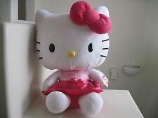 "GIANT Big Sanrio Hello Kitty HELLO KITTY PINK DRESS 21"" Plush Stuffed Animal NWT"