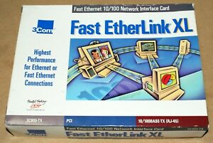 3Com Fast Etherlink XL Network Interface Card Ethernet 10/100BASE-TX PCI Boxed