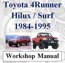 TOYOTA 4RUNNER 4 RUNNER SURF HILUX 1984 - 1995 WORKSHOP MANUAL DIGITAL  DOWNLOAD