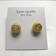 NWT Kate Spade BE BOLD gold tone crystal & yellow resin stud earrings