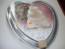 WILTON HEART BAKING PAN 4 PIECE SET~NEW~WEDDING ANNIVERSARY VALENTINE LOVE CAKE