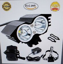 GYY Rechargeable Bicycle LED Front Headlight Headlamp Set Combinations...