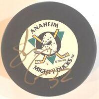 Stu Grimson Anaheim Ducks Autographed Hockey Puck NHL        (HP-A-04)