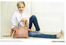 Publicité Advertising 2014 (2 pages) Sac à main Louis Vuitton Michelle Williams