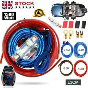 1500w Car Power Amplifier Wiring Kit Audio Subwoofer AMP RCA Power Cable Sub