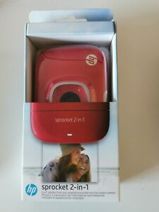 NEW Red HP Sprocket 2 In 1 Portable Instant Camera And Printer