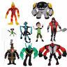 9pcs Ben 10 Ben Tennyson Four Arms Heatblast Grey Matter PVC Action Figures Toys