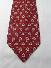 TOMMY BAHAMA OFF ISLAND MENS TIE BURGUNDY WITH PALM TREES 59 X 4