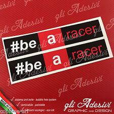2 Adesivi APRILIA Racing be a racer 24 x 4,6 cm sponsor moto