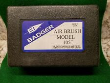 Badger 105 Patriot Gravity Feed Airbrush Used Clean Ready to Go!