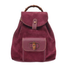 GUCCI Bamboo wine-red Hand Bag 805000932094000