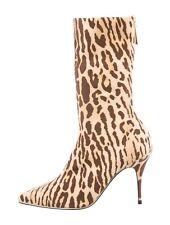 Zimmermann Brown Beige Leopard Mid-Calf Boots Size 6 It 36