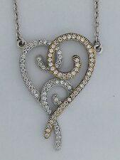 Heart Pendant with Cubic Zirconia Stones 925 Sterling Silver