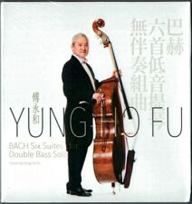 BACH Six Suite for Solo Cello arr. Double-Bass YUNG-HO FU 2CD Kontrabass 傅永和 NEU