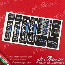 Set 14 Adesivi Sponsor Tecnici per Go Pro GoPro Auto Moto Cross Snow Sub Black