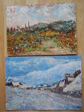 KARPACZ Polen Schlesien Riesengebirge  3 Ölgemälde von A. JENNER Porträt