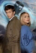 * DAVID TENNANT & BILLIE PIPER SIGNED PHOTO 8X10 RP AUTOGRAPHED DOCTOR WHO CAST