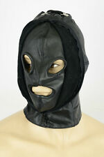 Aw-907 máscara de cuero de cuero máscara, Double Face Leather Mask, Hood, Masque en cuir capó