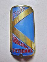 ancienne plaque de vélo en aluminium-cyclisme-sport-Cycles K-BGA-Saint-Etienne