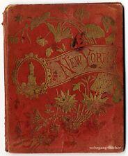 New york: Leporello avec 31 chromolitho vues pour 1880