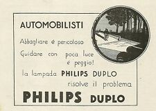W5072 Lampada Philips Duplo - Pubblicità 1930 - Advertising