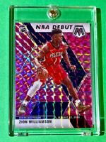 Zion Williamson PINK CAMO PRIZM ROOKIE MOSAIC REFRACTOR 2019-20 HOT RC - Mint!