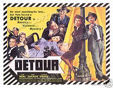DETOUR LOBBY TITLE CARD POSTER 1945 TOM NEAL ANN SAVAGE CRIME FILM NOIR