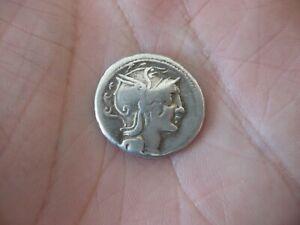 Monnaie Romaine Denier emp CLAUDIA argent massif 1,9 cm de diamètre 3,8 grs