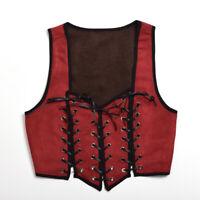 Médiéval Femme Réversible Lacets Corset Renaissance Pirate Wench Corsage Costume