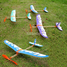 Newest Glider Rubber Band Elastic Powered Flying Plane Airplane Fun Model Toy