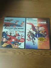 New Justice league Crisis On Two Earths & the New Frontier DVDs  New