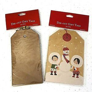 *2 Pack* World Market Die-Cut Christmas Holiday Gift Tags 14 total