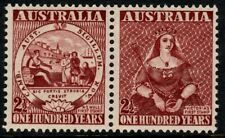 Australia 1950 2½d FIRST STAMP CENTENARY NSW, VICTORIA Unhinged Mint SG 239-40