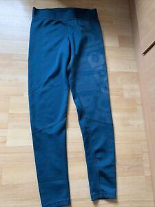 Ladies ADIDAS Leggings Teal Green UK M Climalite