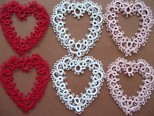Tatted Hearts, Tatting, Tatted Valentine's Day Hearts, Lace Hearts, Scrapbooking