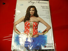 LEG AVENUE SUPER STAR HERO KIT WONDER WOMEN HALLOWEEN COSTUME MEDIUM