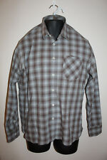Men's Billy Reid Standard Cut Long Sleeve Button Front Shirt Checked Size L
