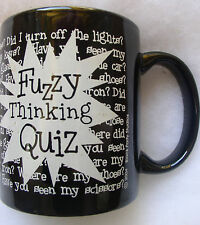 Fuzzy Thinking Quiz Coffee Cup Mug by M Ware