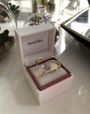 PANDORA Genuine Two Hearts Hoop Earrings - 296576