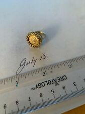 Ca. 1960-70 14k Ladies Coin Ring , Cotains A Genuine 1853 1 Dollar Gold Piece.