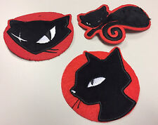 EMILY THE STRANGE 3 rare patches black kitty cat