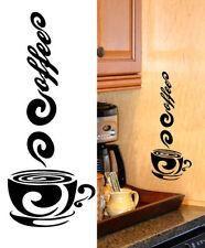 Coffee Decal vinyl sticker café java latte espresso machine kitchen home decor