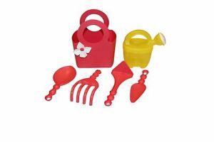 Kunststoff Kinder Gartengeräte Set 6-teilig rot