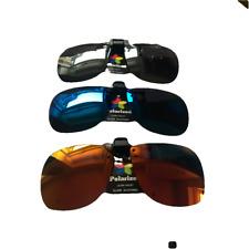 Clip on Flip up Sunglasses Ultra Violet Eyewear UV400 Polarised Lenses