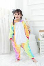 Rainbow Star Unicorn Sleepwear Kigurumi Pajamas Animal Cosplay Costume Kids