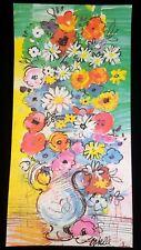 RARE Charles COBELLE Jug FLOWERS Vase CANVAS 24x12 LITHOGRAPH Print MCM Unframed