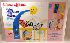 Vintage 1985 Johnson & Johnson Voice Activated Crib Mobile New Nib Rare Free S/H