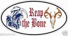 Deer Hunter Reaper Decal Sticker ATV Funny Toolbox Car Reap The Bone