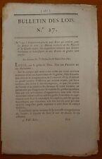 BL n°27 / Dispostions relatives aux grades honoraires et honorifiques / 1815
