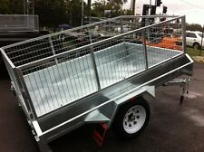 7X4 NEW H.DUTY CAGED BOX TRAILER DRIVE AWAY TODAY!